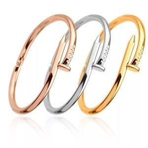 Jewelry - Rose Gold Silve Nail Wrap Around  Love Bracelet B1